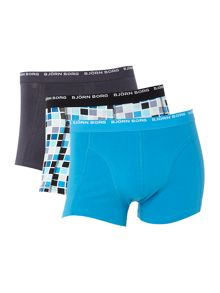 Bjorn Borg Basic check and plain trunk 3 pack