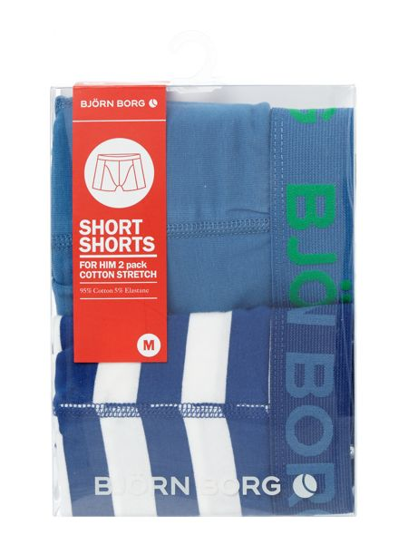 Bjorn Borg Pool side stripe and plain trunk 2 pack