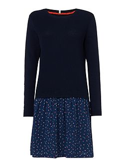 Kate Knitted And Printed Dress