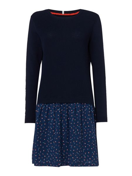Dickins & Jones Kate Knitted And Printed Dress