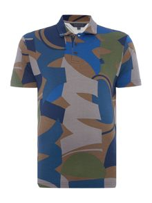 Perry Ellis America Camouflage Printed Short Sleeve Polo Shirt