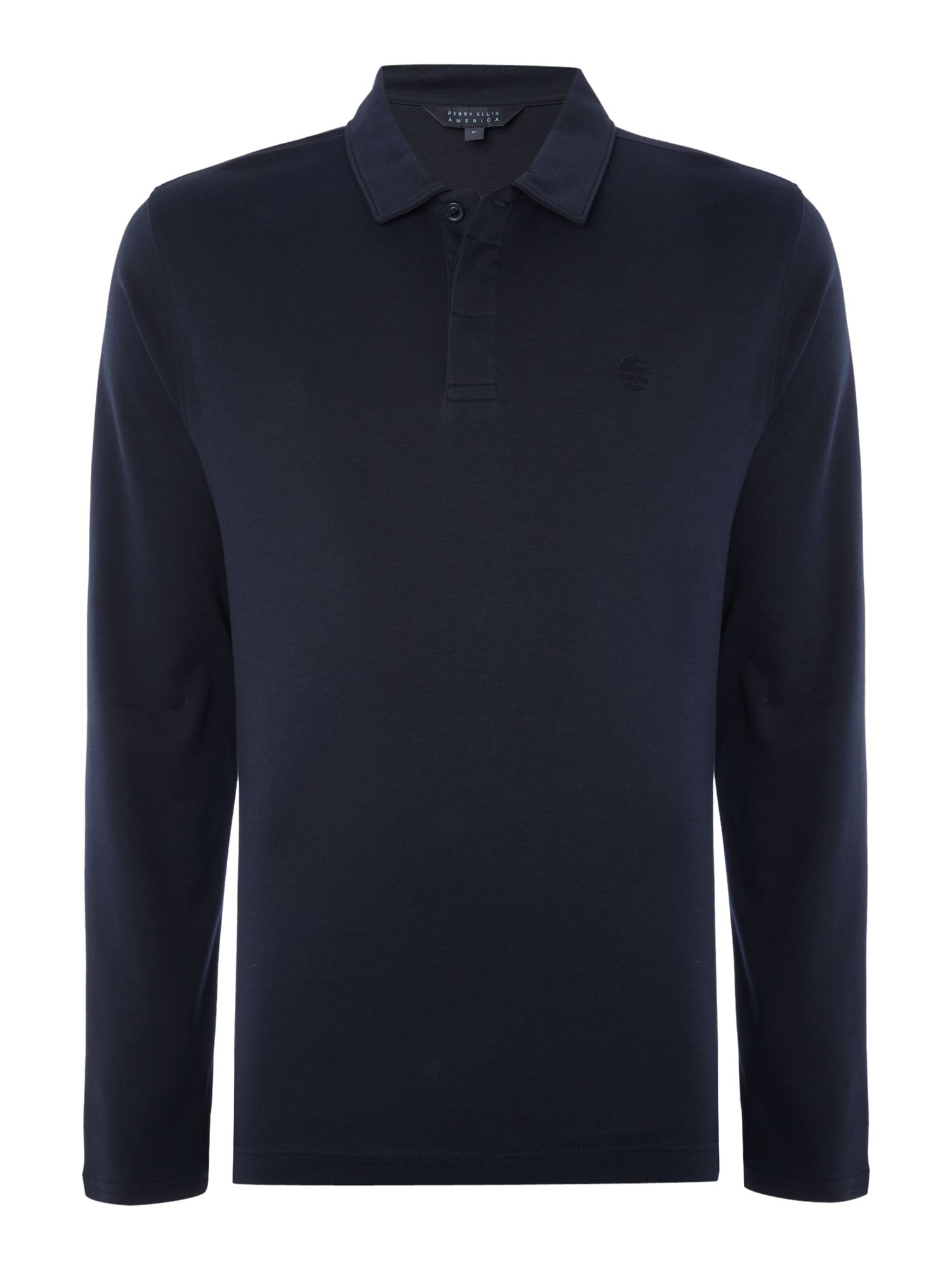 Men's Perry Ellis America Long Sleeve Archive Polo Shirt, Sapphire