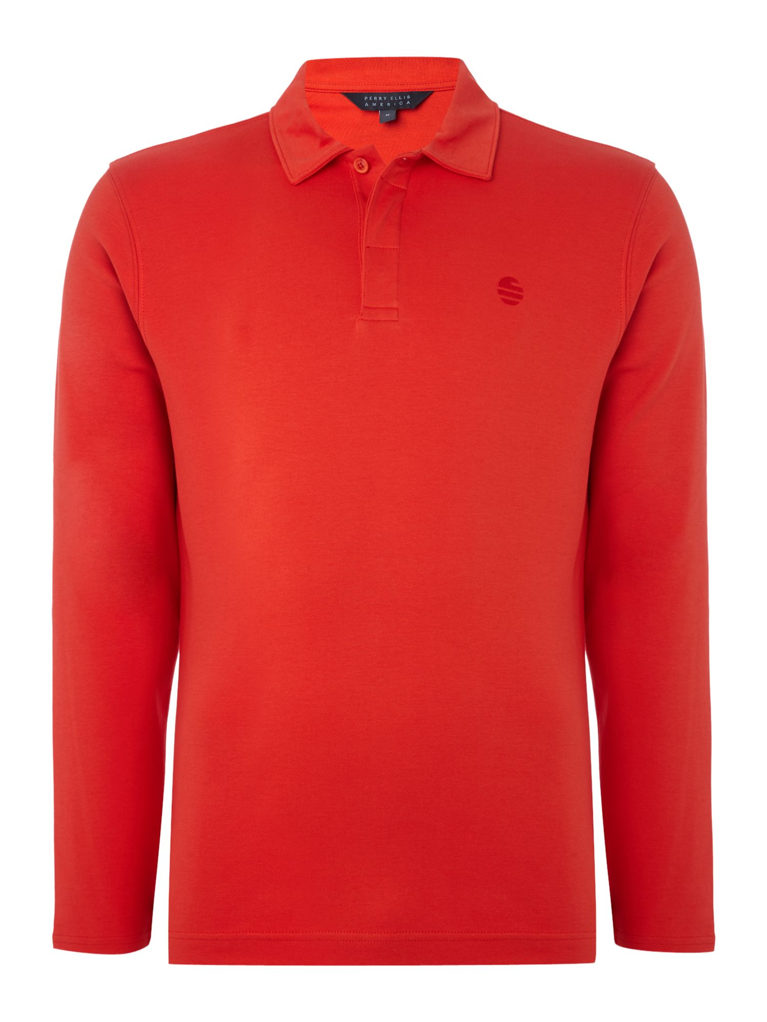 Men's Perry Ellis America Long Sleeve Archive Polo Shirt, Red
