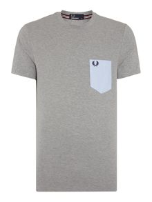 Fred Perry Textured mix pique T-Shirt