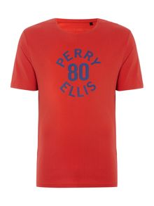 Perry Ellis America 80`s Logo Signature Fit Crew Neck T-shirt