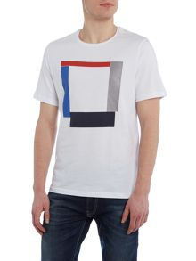 Perry Ellis America Block Print Crew Neck T-shirt