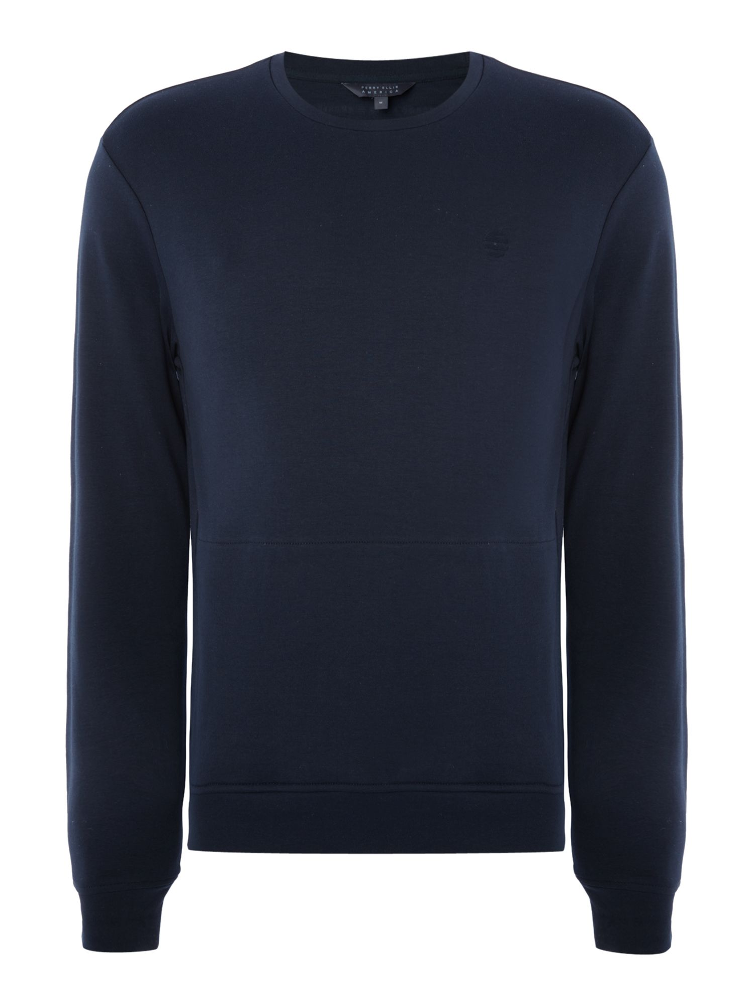 Men's Perry Ellis America Archive Crew Neck Logo Sweatshirt, Blue