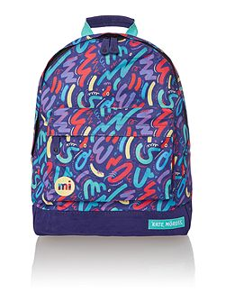 Crayon print backpack