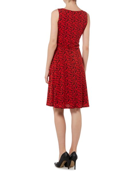Linea Full skirted abstract spot dress