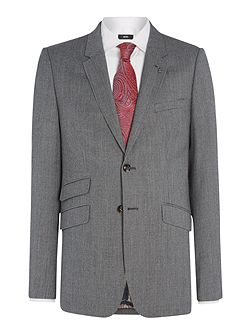 Gather Textured Suit Jacket