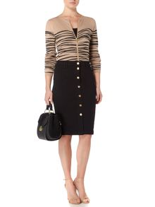 Biba Patterned zip up jumper