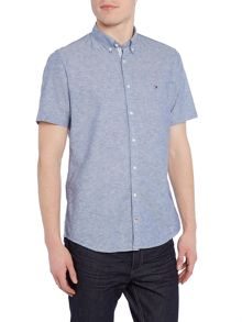 Tommy Hilfiger Cotton Linen Short Sleeve Shirt