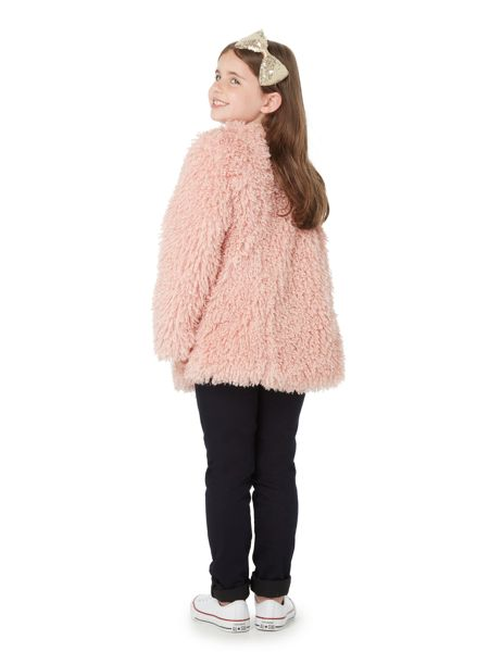 Little Dickins & Jones Girls Mongolian fur coat