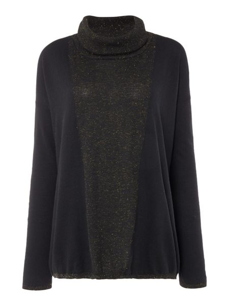 Biba Boxy oversized roll neck jumper