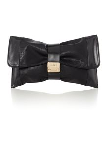 Lipsy Black foldover clutch bag