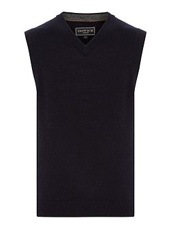 Boys Lambswool Sleeveless Jumper