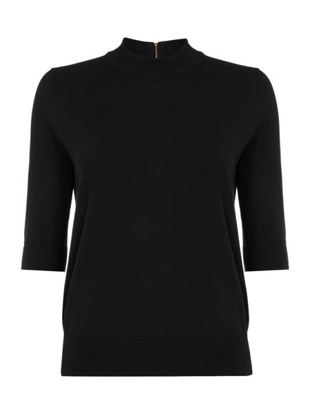 Biba Short sleeve touch of cashmere turtle neck