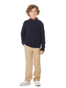 Howick Junior Boys Crew Neck Cable Knit Jumper