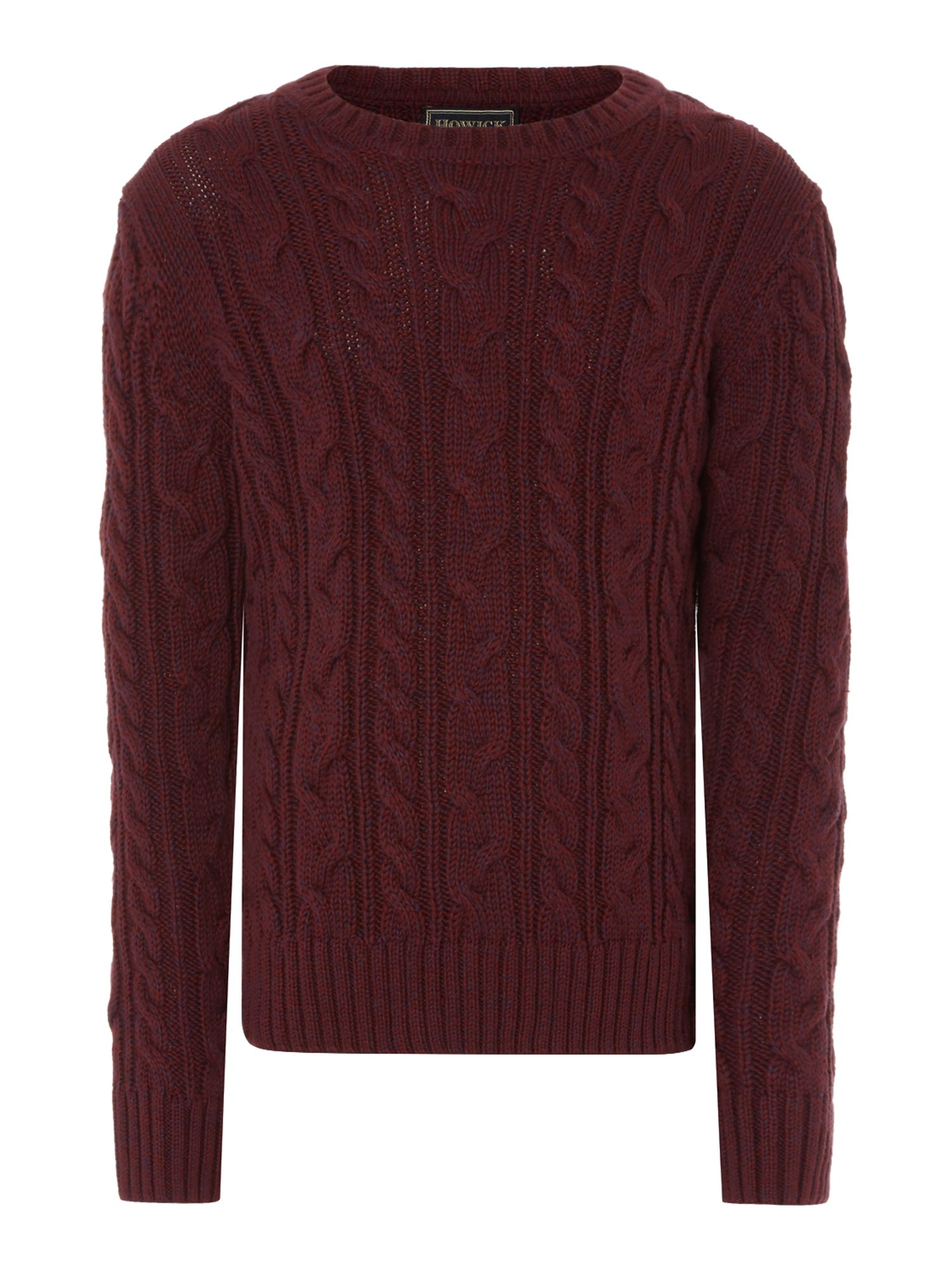 Howick Junior Howick Junior Boys Crew Neck Cable Knit Jumper, Red