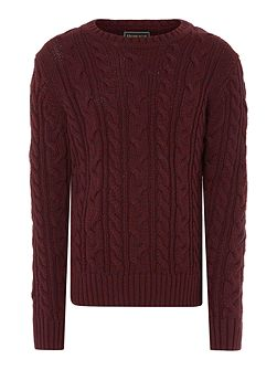 Boys Crew Neck Cable Knit Jumper