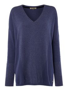 Biba Oversized boxy metallic panel jumper
