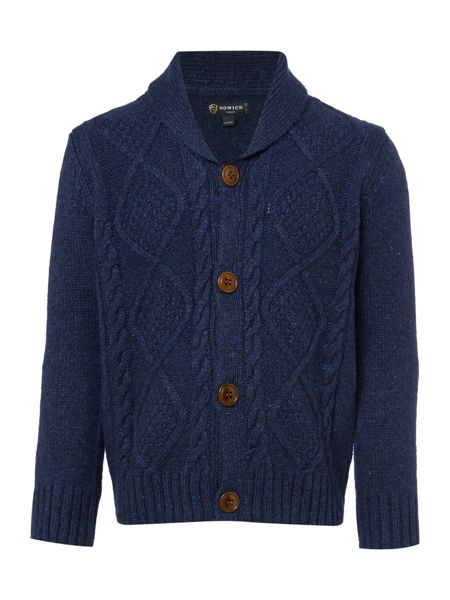 Howick Junior Boys Shawl Neck Button Front Cardigan