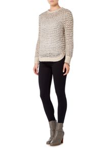 Gray & Willow Crew Neck Fisherman Rib Jumper