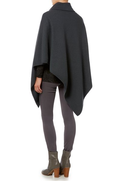 Gray & Willow Felted wool poncho