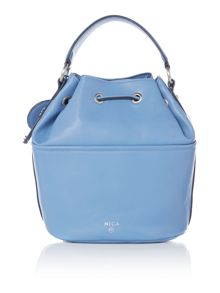 Nica Poppy blue medium bucket bag