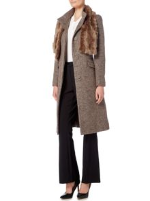 Linea Fit and Flare Funnel Neck Coat