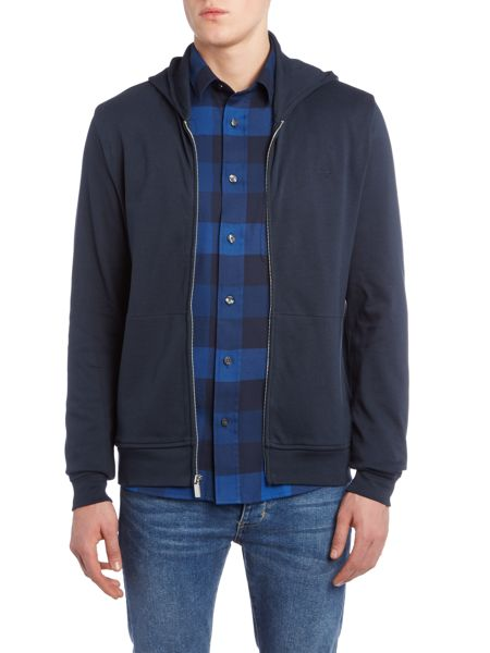 Perry Ellis America Archive Zip Through Hooded Sweatshirt