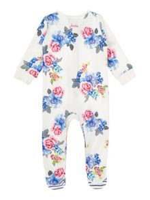 Joules Girls Vintage floral printed All in one