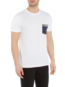 Fred Perry Gingham trim pocket short sleeve tshirt