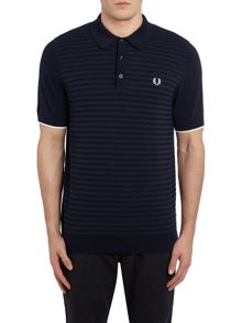 Fred Perry Textured stripe knitted polo