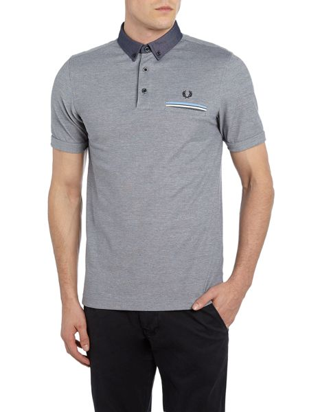 Fred Perry Woven oxford collar short sleeve polo