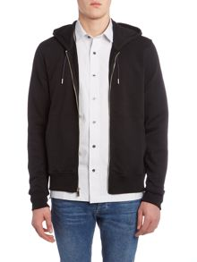 Perry Ellis America Perfect Fit Hooded Zip Through Sweatshirt
