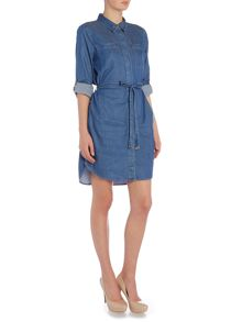 Vince Camuto Belted denim dress