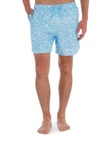 Boardies Mid length crazed print swim shorts