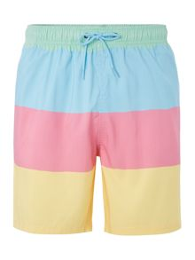Boardies Mid length refresher beach ball stripe swim short