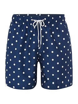 Mid length polka dot print swim Shorts
