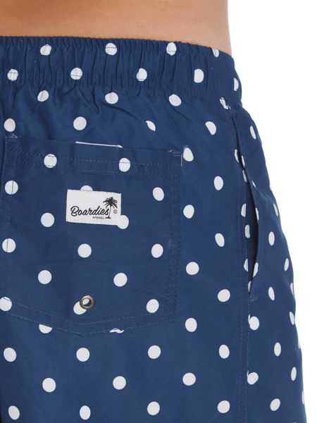 Boardies Mid length polka dot print swim Shorts