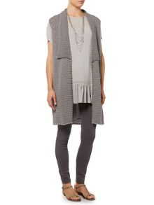 Gray & Willow Throw on sleeveless cardigan