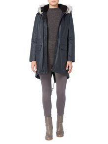 Gray & Willow 2 in 1 Parka with faux fur trim