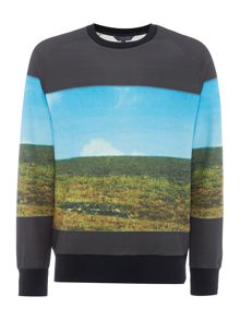 Perry Ellis America Landscape Photo Print Long Sleeve Sweatshirt