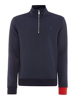 Track Knit Zip Neck Sweatshirt