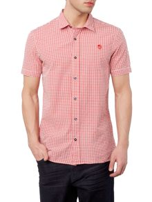 Perry Ellis America Northern Soul Gingham Short Sleeve Shirt