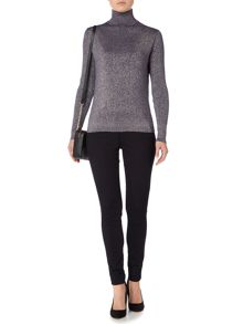 Biba Metallic roll neck jumper