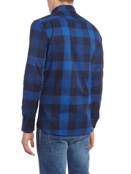 Perry Ellis America Check Long Sleeve Shirt