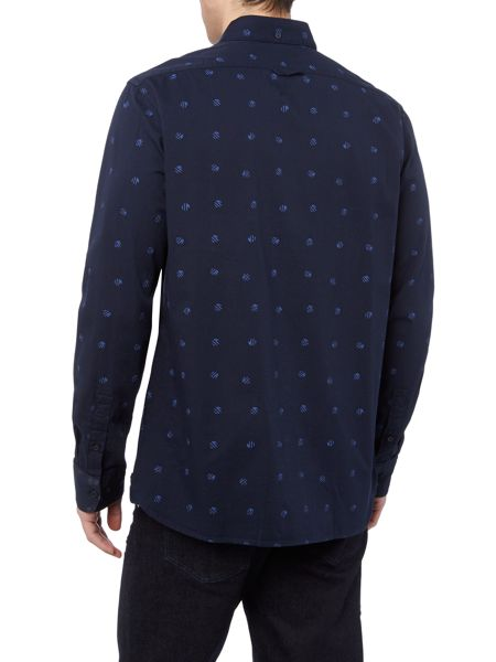 Perry Ellis America Jackson Print Long Sleeve Signature Fit Shirt