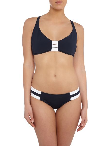 Seafolly Block party full cup halter top